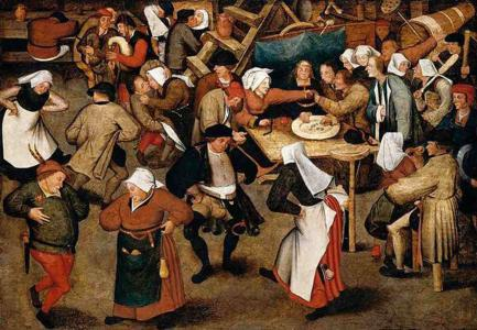 Dancing Peasants by Brueghel